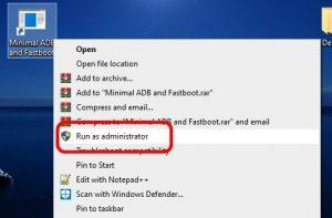 Rulare Minimal ADB and Fastboot ca administrator