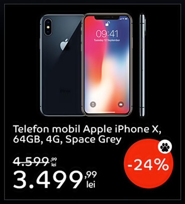 Pret iPhone X eMag Black Friday