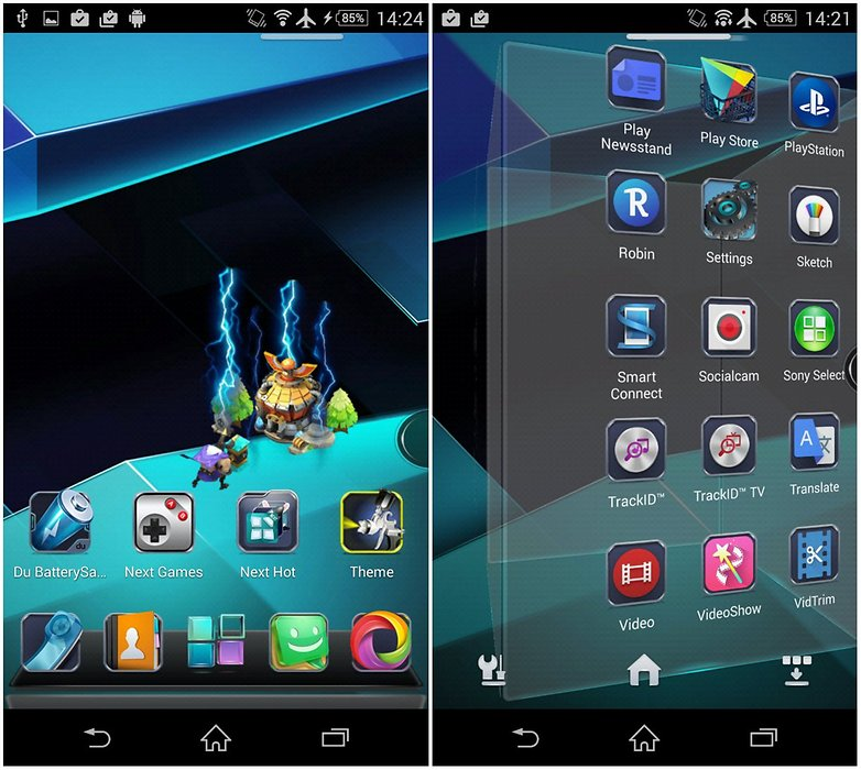 Schimbare interfata telefon Android